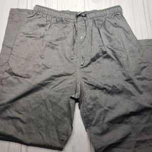 Polo Ralph Lauren Men Pajamas Lounge Pants Sleepwear Pony Cotton Grey  M 32-34